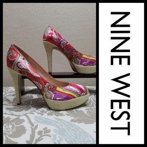 Nine West Heels/Pumps Paisley print sz 10